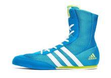 Boxerské boty adidas Box Hog 2 modrá